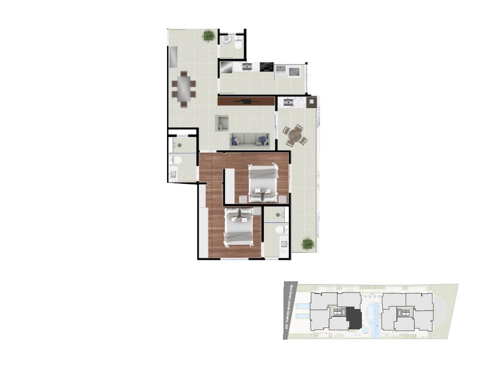 Apto. 4 - 89, 47 m²