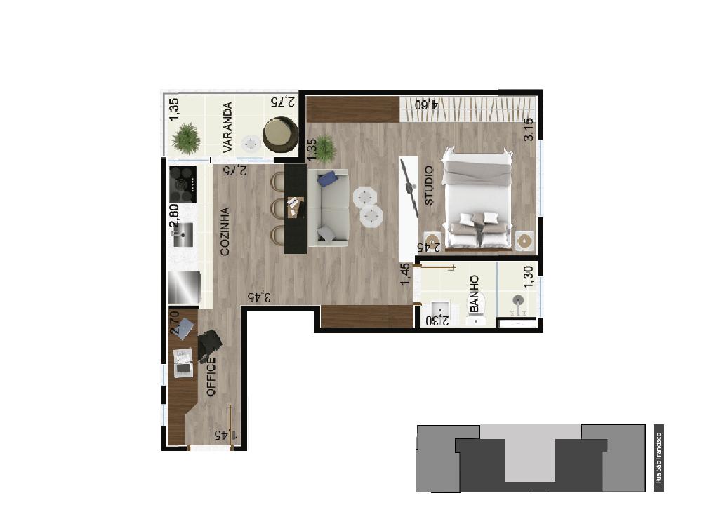 studio I - 36 m²