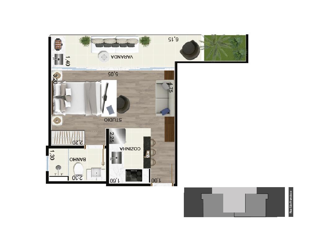 studio II - 40 m²
